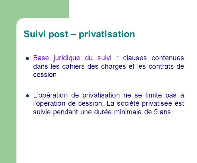 Suivi post – privatisation