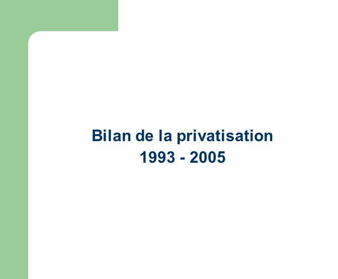 Bilan de la privatisation