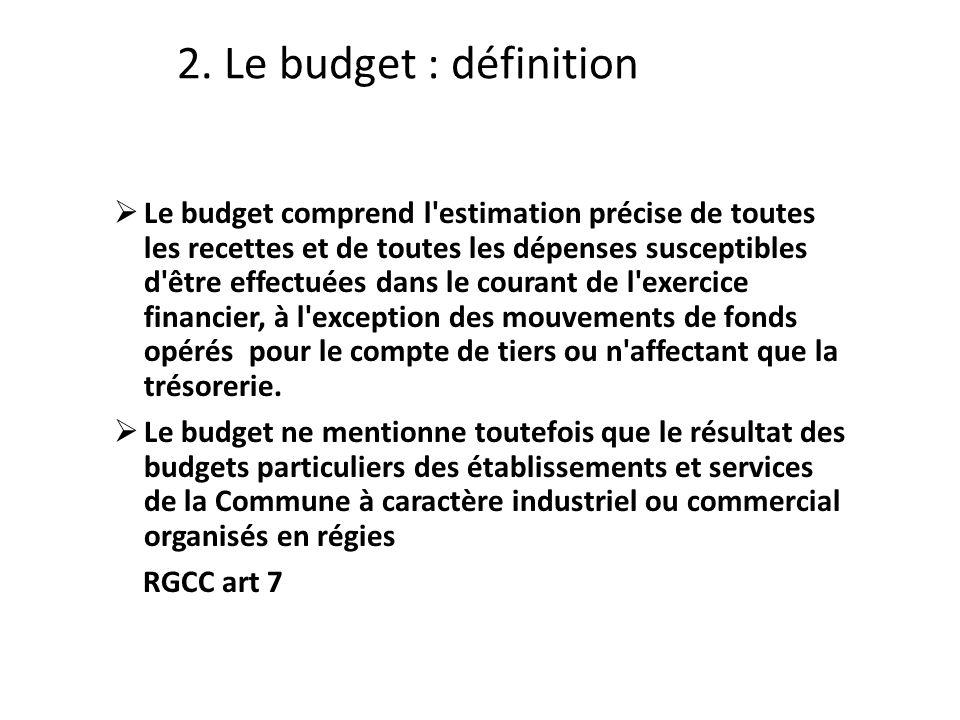 2. Le budget : définition