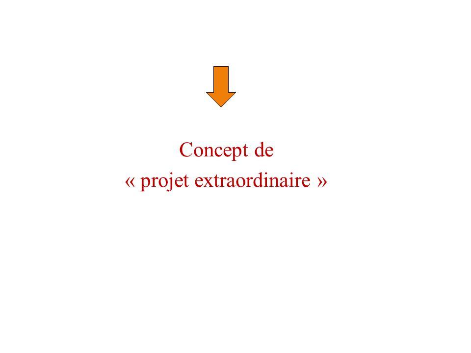 « projet extraordinaire »
