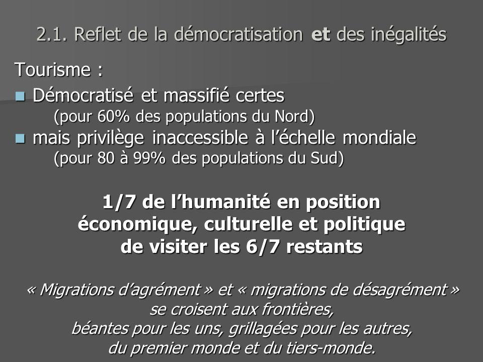 2.1. Reflet de la démocratisation et des inégalités