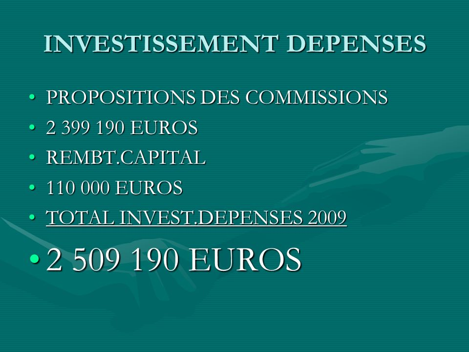 INVESTISSEMENT DEPENSES