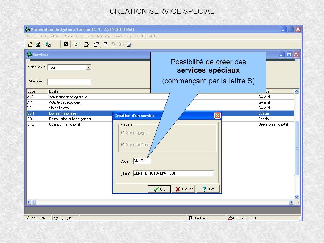 CREATION SERVICE SPECIAL