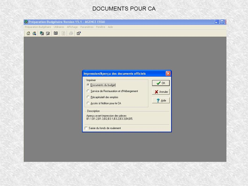 DOCUMENTS POUR CA