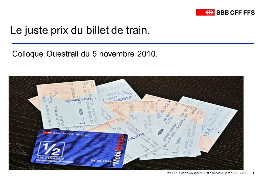 Le juste prix du billet de train.