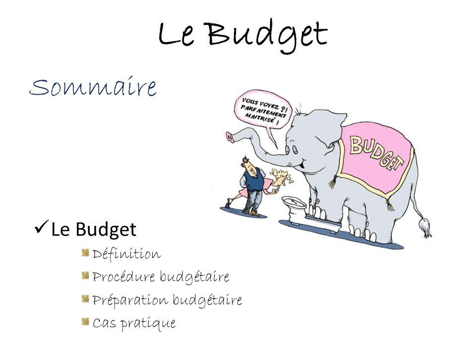 Le Budget Sommaire Le Budget Définition Procédure budgétaire