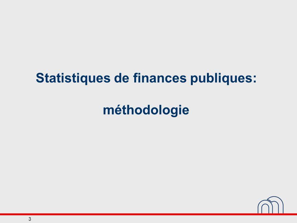 Statistiques de finances publiques: méthodologie
