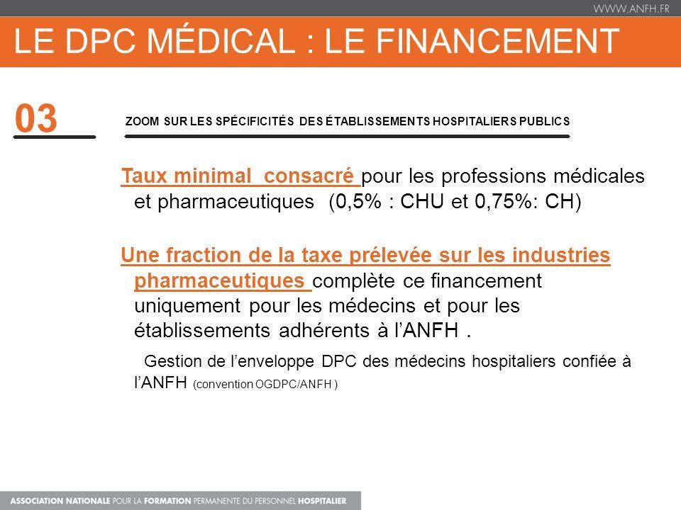 LE DPC médical : LE FINANCEMENT