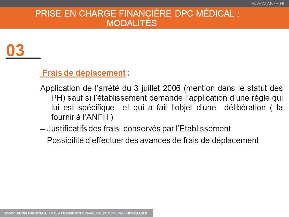 Prise en charge financière dpc médical : Modalités