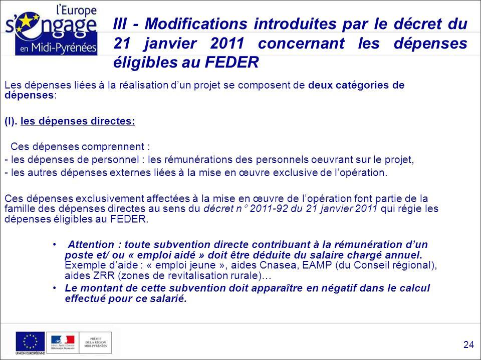 Séminaire du 20 janvier 2011 Services instructeurs FEDER - État