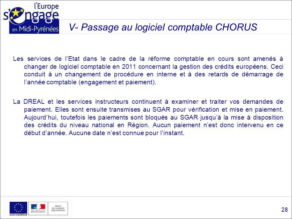 V- Passage au logiciel comptable CHORUS