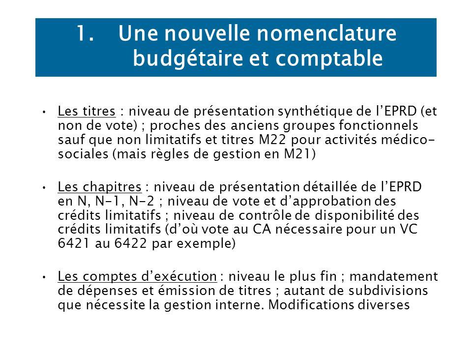 Une nouvelle nomenclature budgétaire et comptable