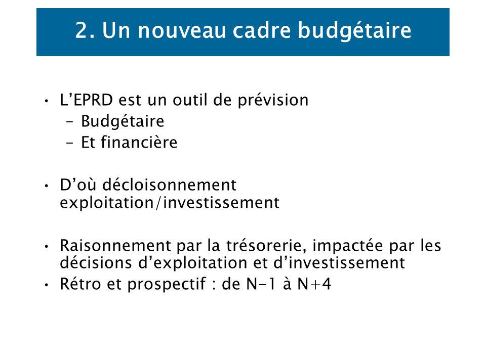 2. Un nouveau cadre budgétaire