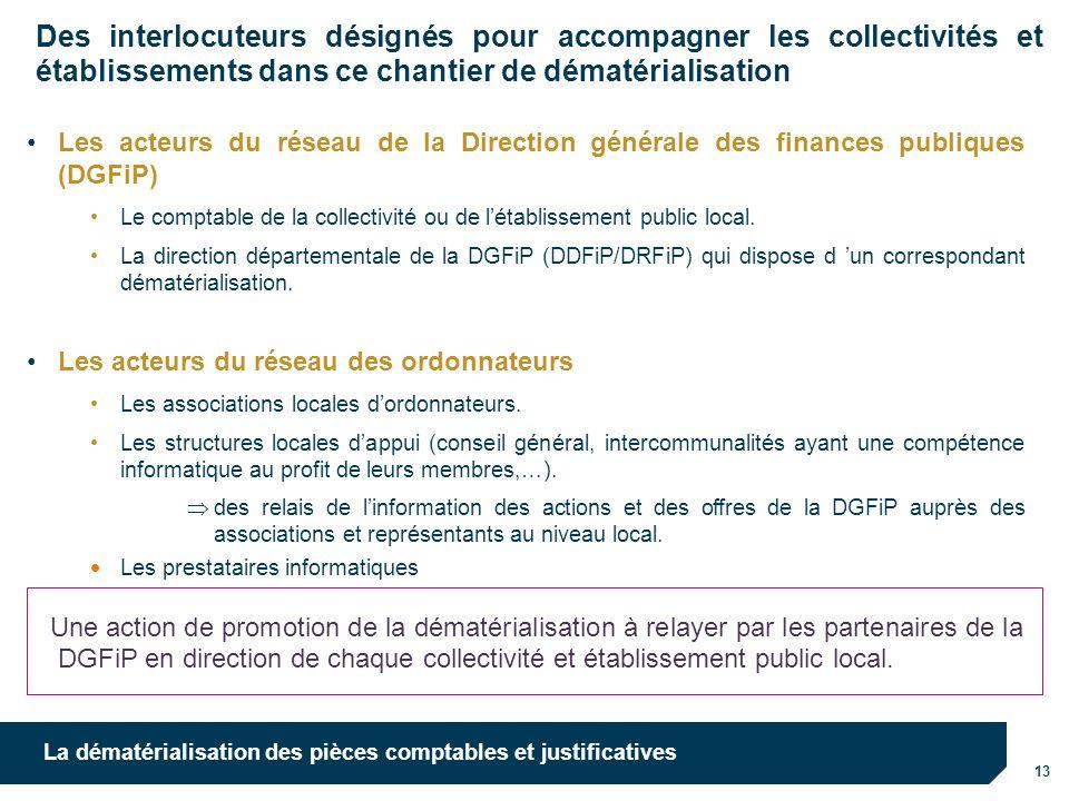 10/10/12 10/10/12. Des interlocuteurs désignés pour accompagner les collectivités et établissements dans ce chantier de dématérialisation.