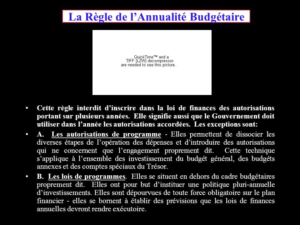 La Règle de l'Annualité Budgétaire