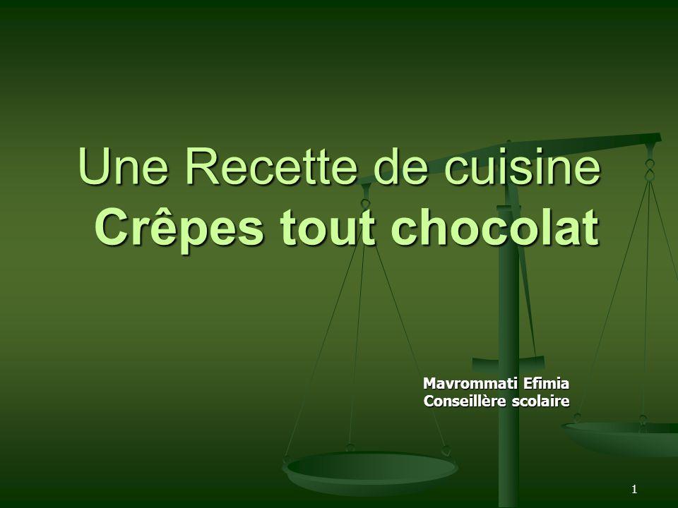Une Recette de cuisine Crêpes tout chocolat