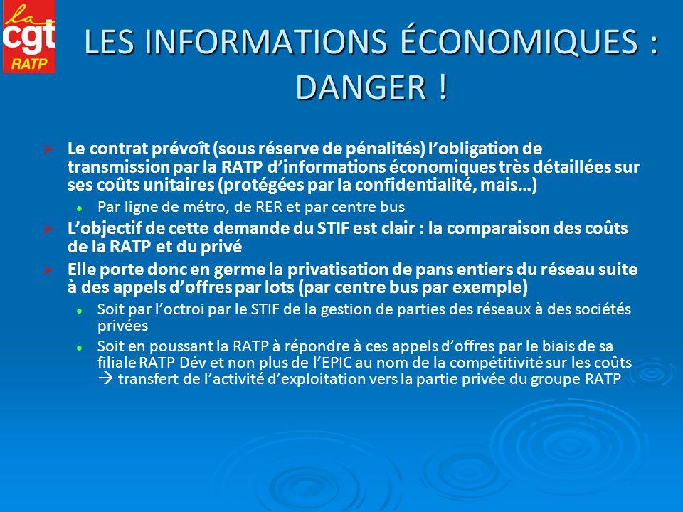 LES INFORMATIONS ÉCONOMIQUES : DANGER !