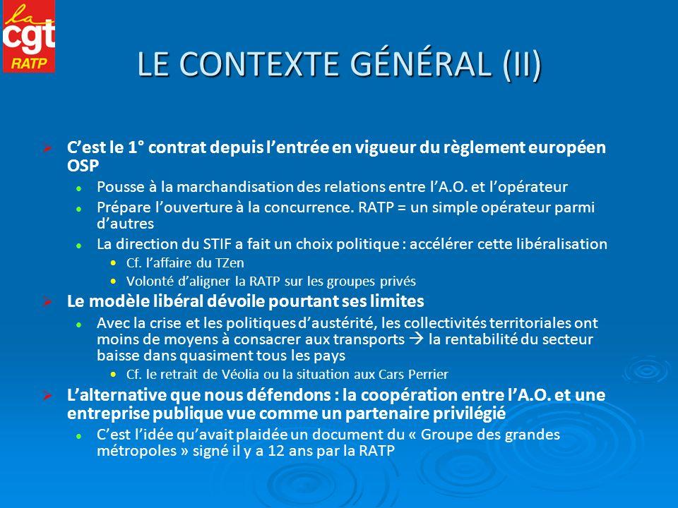 LE CONTEXTE GÉNÉRAL (II)