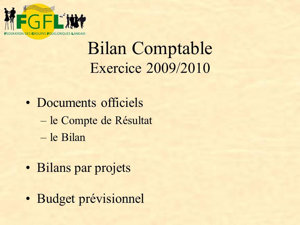 Bilan Comptable Exercice 2009/2010