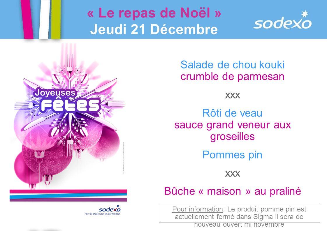 « Le repas de Noël » Jeudi 21 Décembre