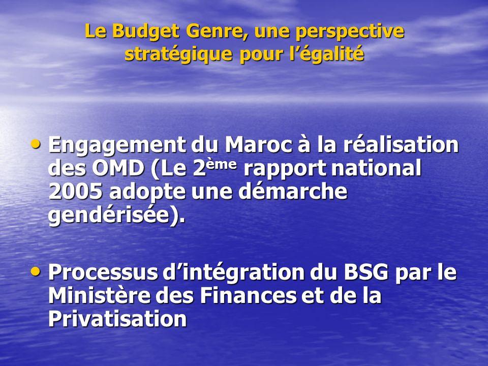 Le Budget Genre, une perspective stratégique pour l'égalité