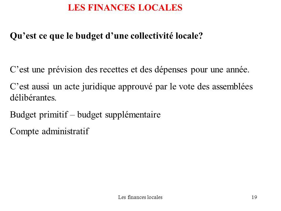 Qu'est ce que le budget d'une collectivité locale
