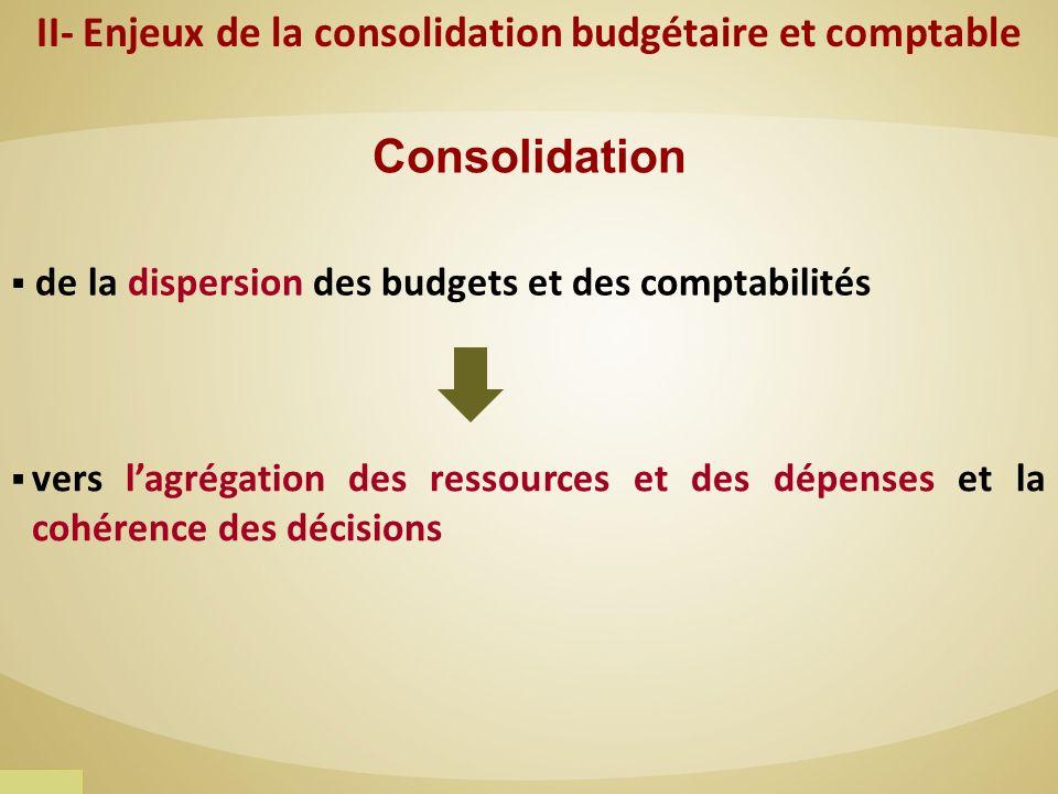 II- Enjeux de la consolidation budgétaire et comptable