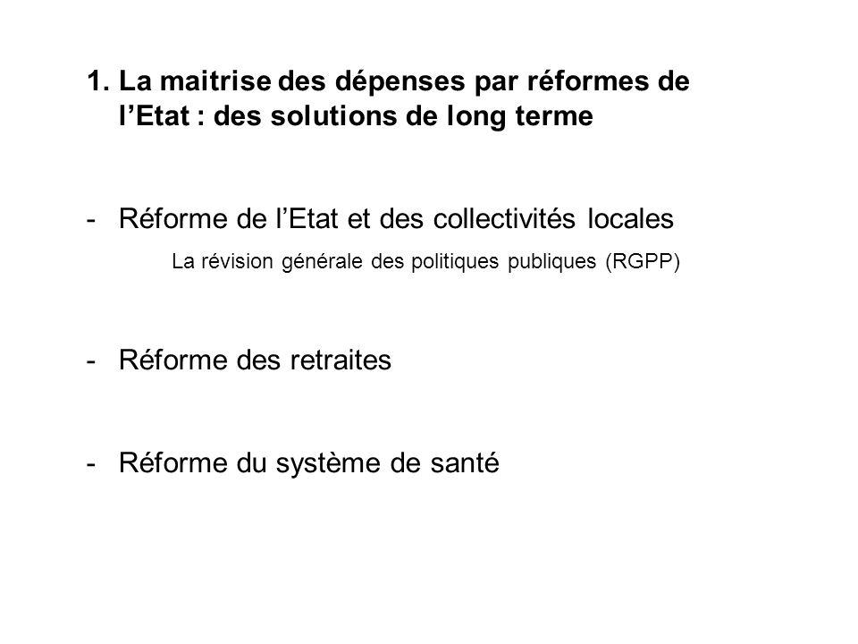 Réforme de l'Etat et des collectivités locales