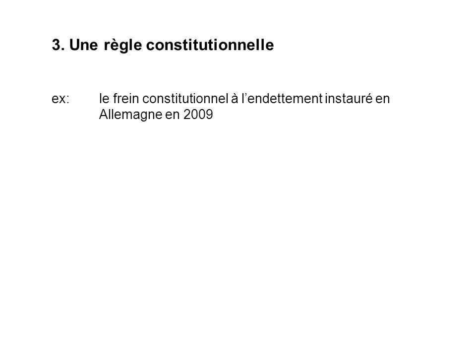 3. Une règle constitutionnelle