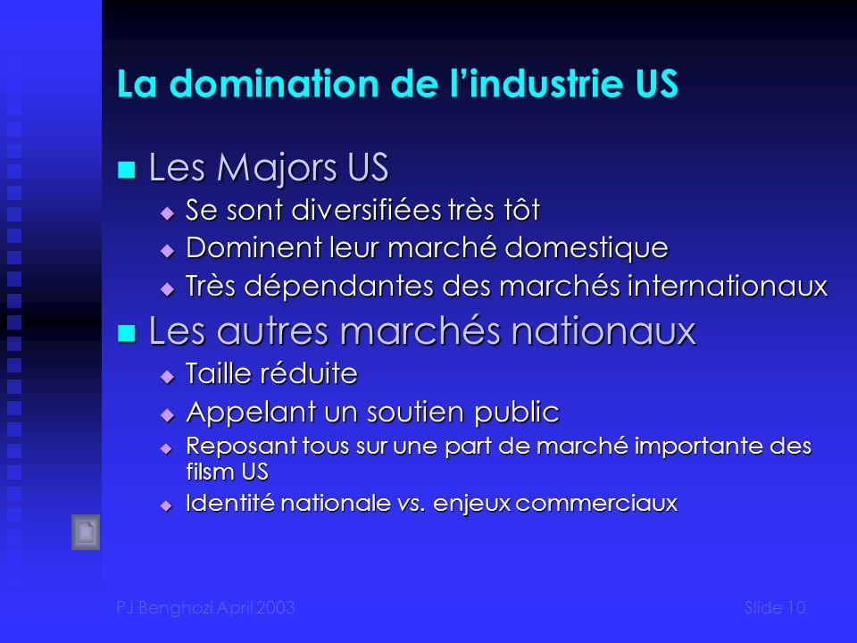 La domination de l'industrie US