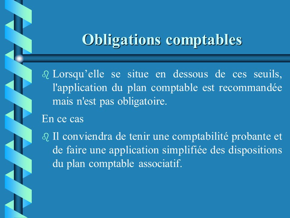 Obligations comptables