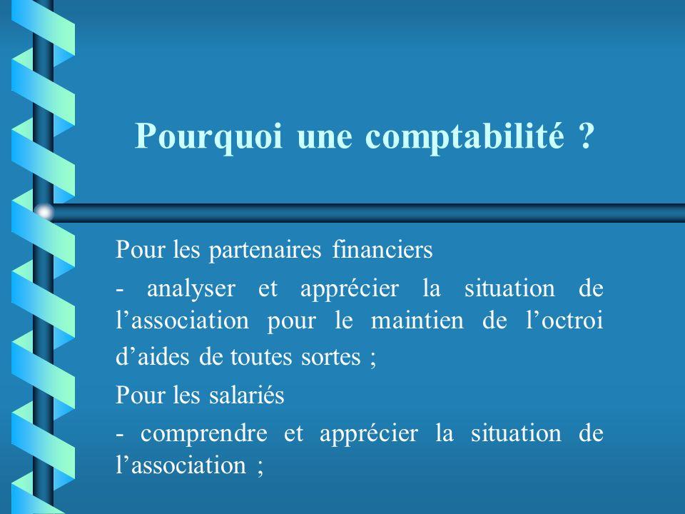 Pourquoi une comptabilité