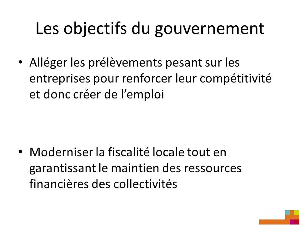 Les objectifs du gouvernement