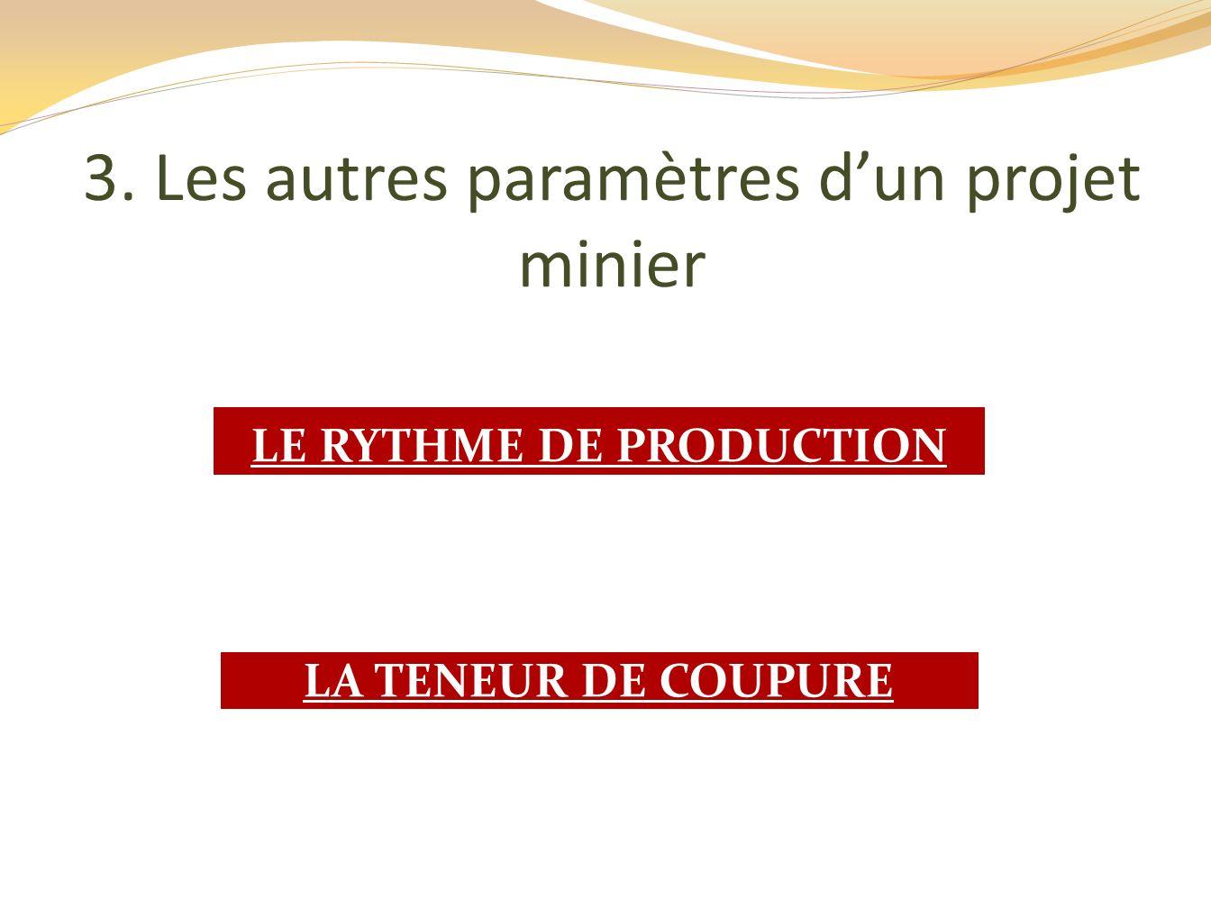 LE RYTHME DE PRODUCTION