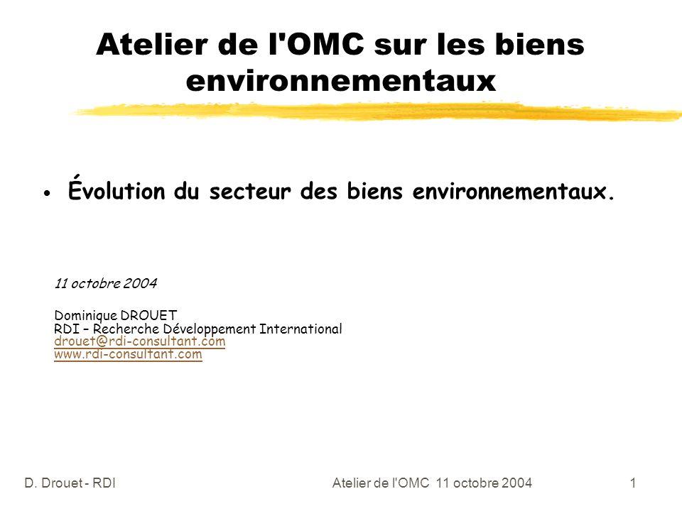Atelier de l OMC sur les biens environnementaux