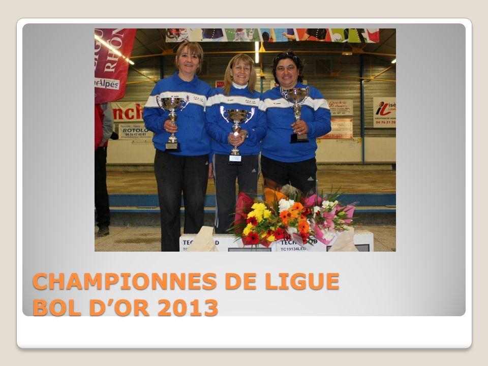 CHAMPIONNES DE LIGUE BOL D'OR 2013