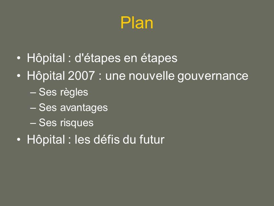 Plan Hôpital : d étapes en étapes