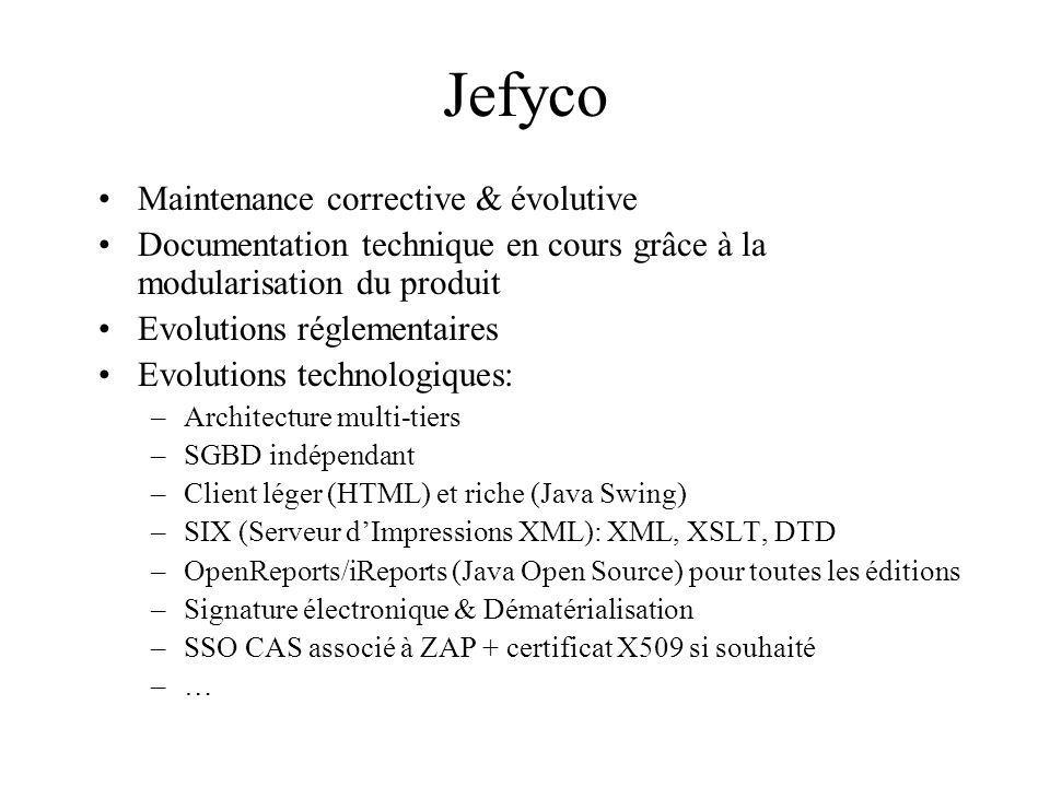 Jefyco Maintenance corrective & évolutive