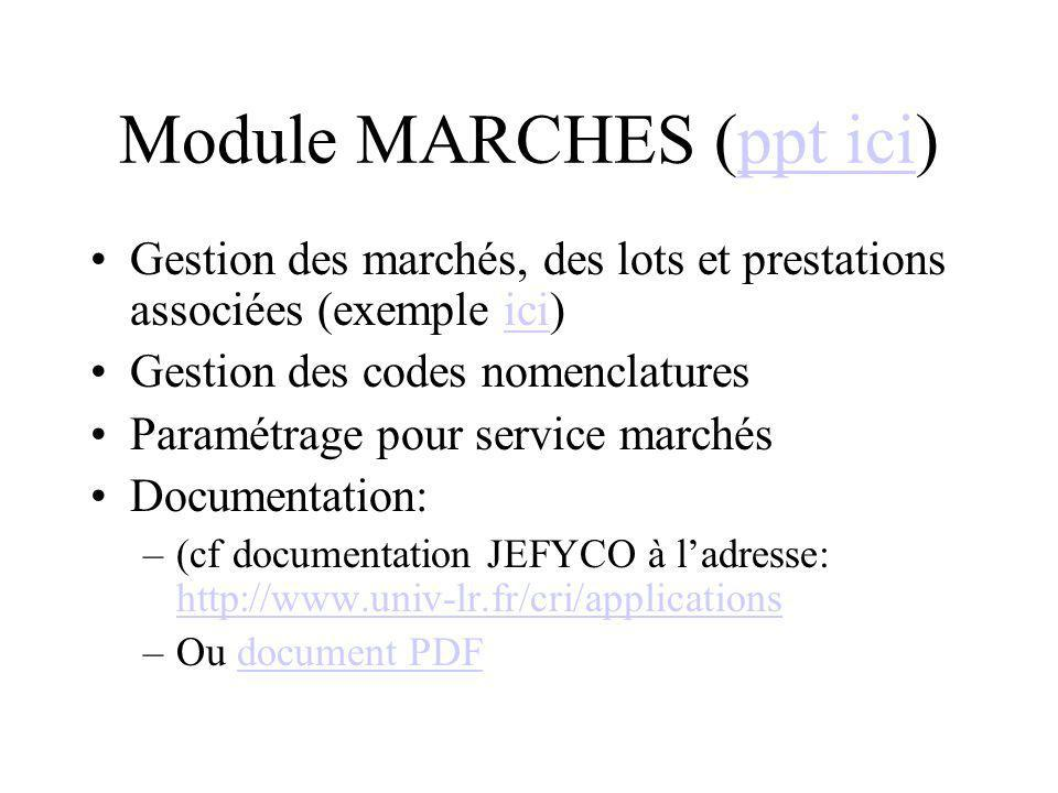 Module MARCHES (ppt ici)