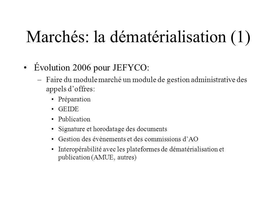 Marchés: la dématérialisation (1)
