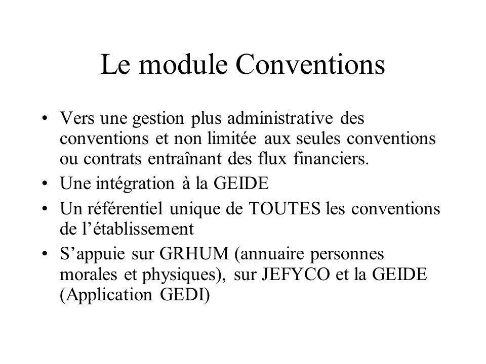 Le module Conventions