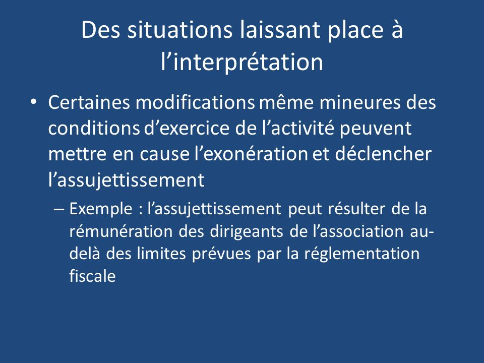 Des situations laissant place à l'interprétation