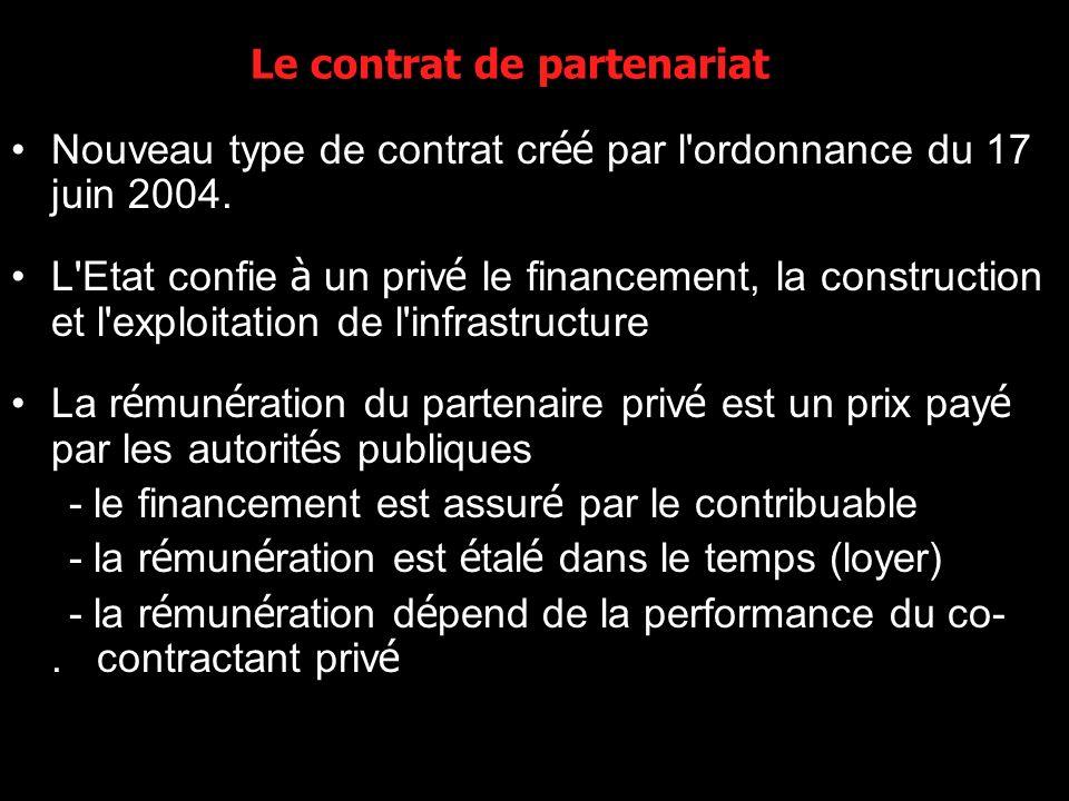 Le contrat de partenariat