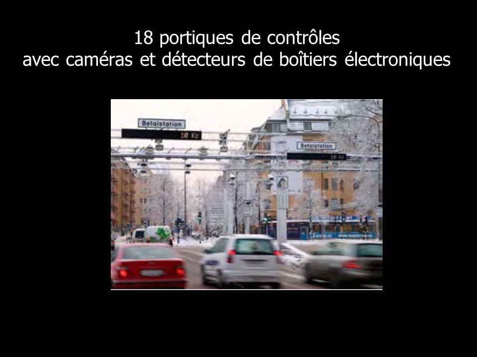 18 portiques de contrôles avec caméras et détecteurs de boîtiers électroniques