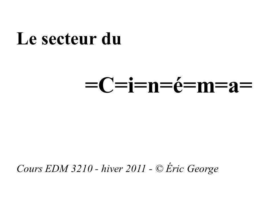 =C=i=n=é=m=a= Le secteur du