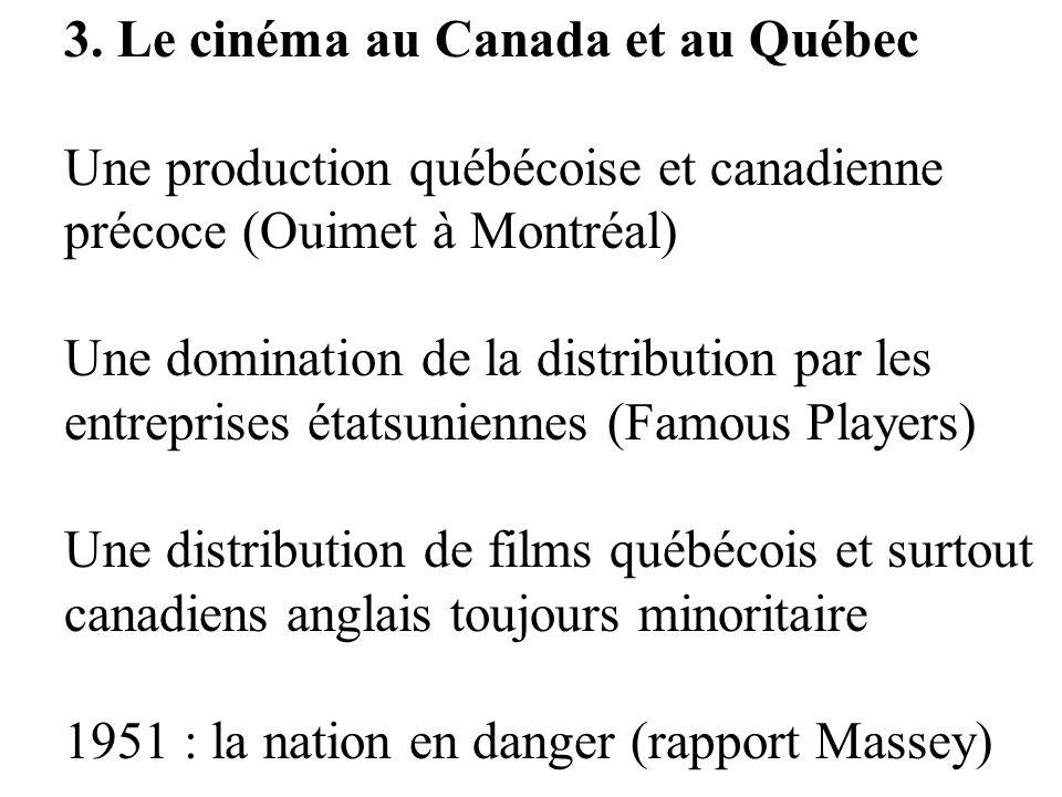 3. Le cinéma au Canada et au Québec