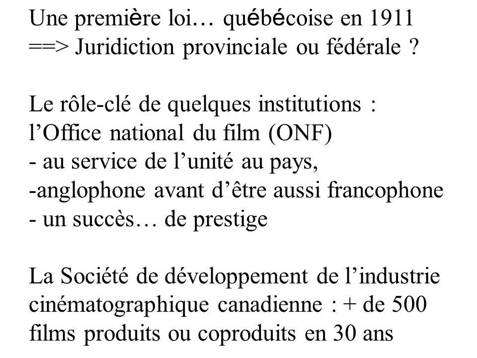 Une première loi… québécoise en 1911