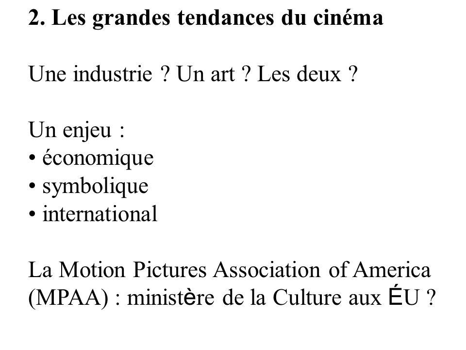 2. Les grandes tendances du cinéma