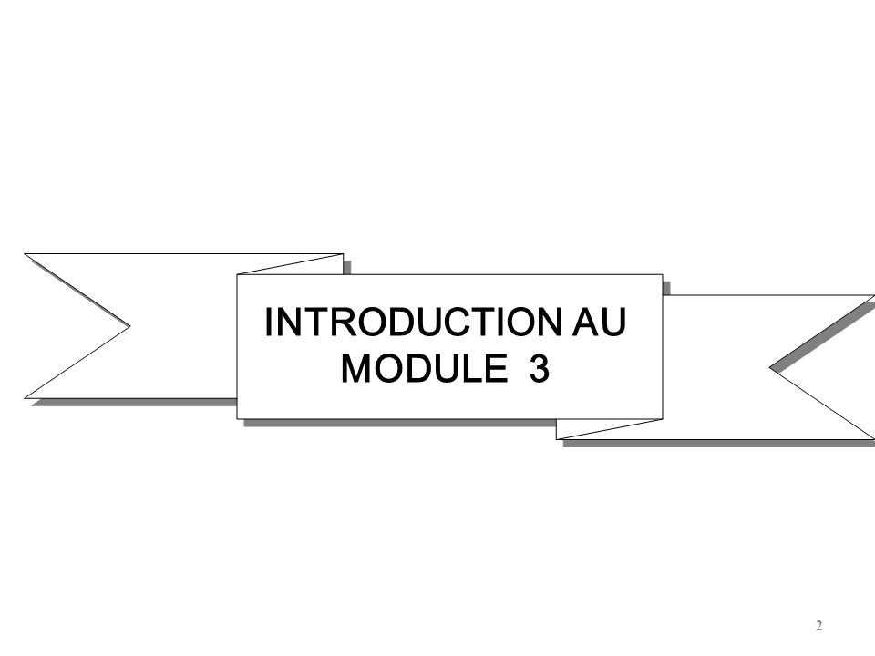 INTRODUCTION AU MODULE 3