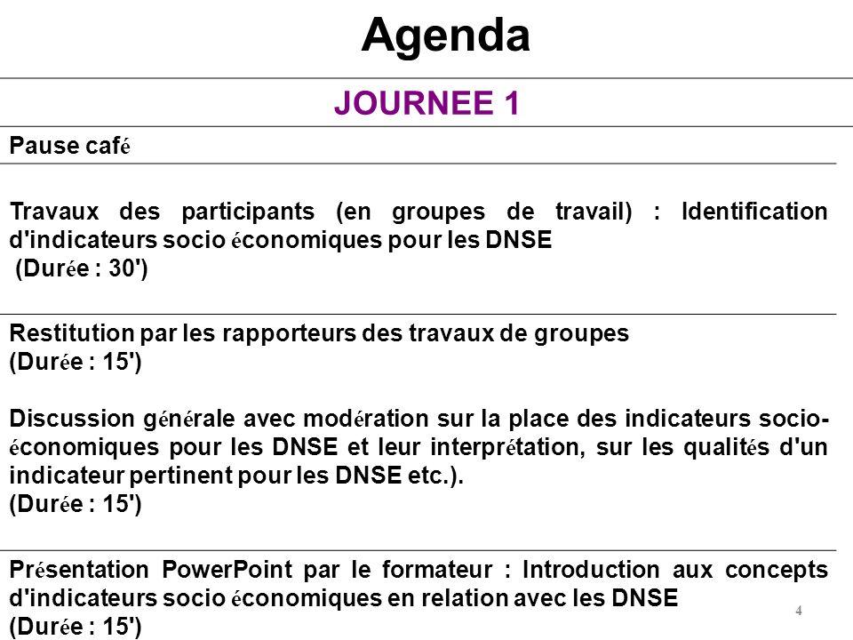 Agenda JOURNEE 1 Pause café